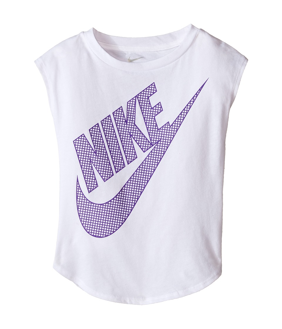 Nike Kids - KTA783 Short Sleeve Top (Toddler) (White) Girl's Clothing