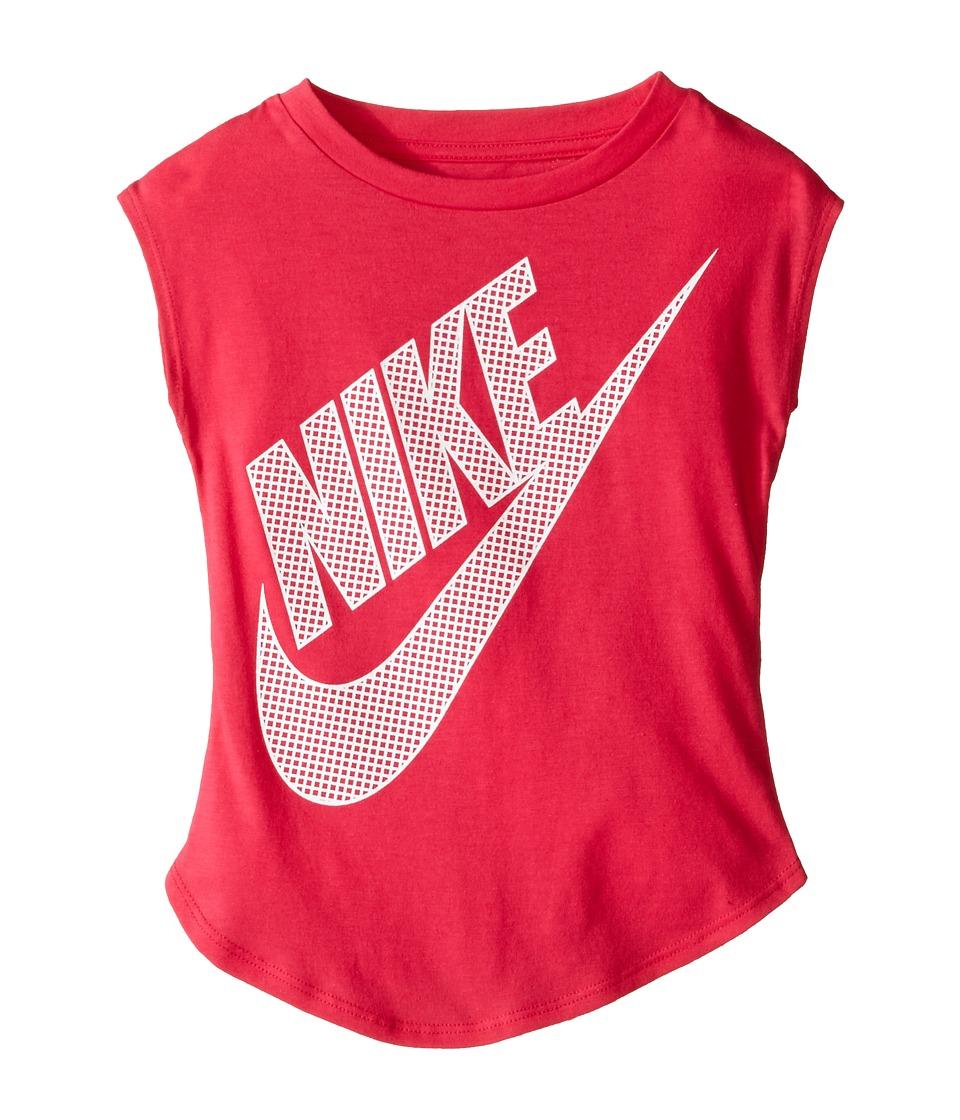 Nike Kids - KTA783 Short Sleeve Top (Toddler) (Dark Hyper Pink) Girl's Clothing