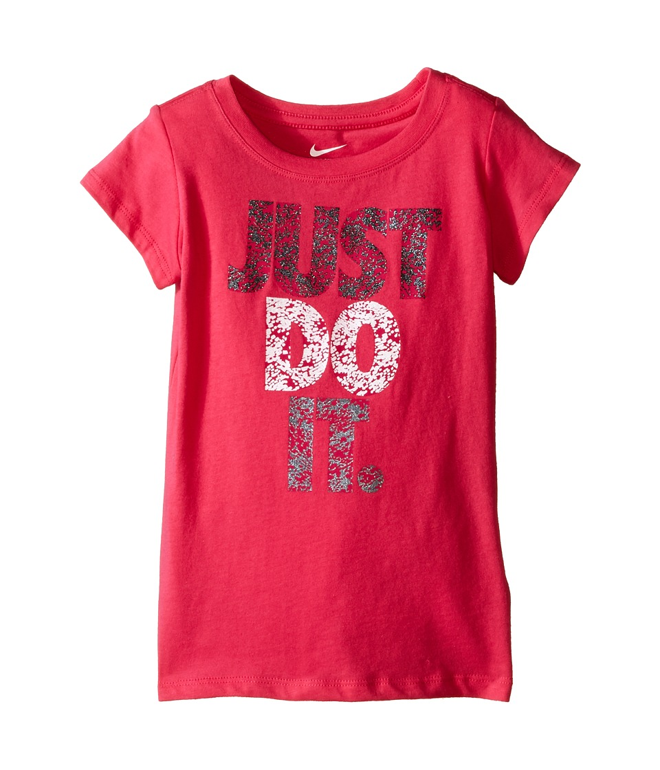 Nike Kids - A879 Just Do It Short Sleeve Tee (Toddler) (Dark Hyper Pink) Girl's T Shirt