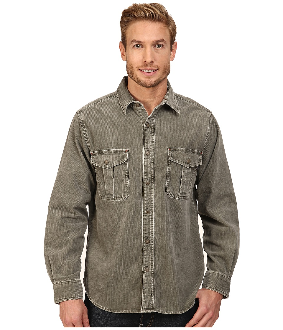 Woolrich - Hemlock Cord Shirt Regular Fit (Dark Shale 1) Men