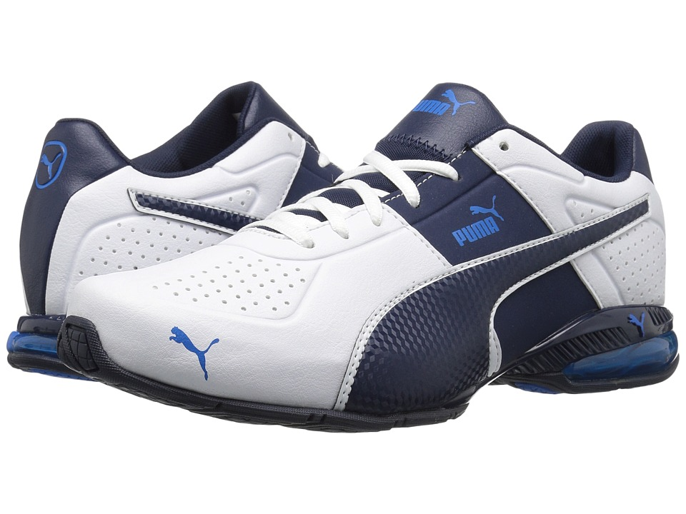 PUMA - Cell Surin 2 FM (Puma White/Peacoat/Electric Blue Lemonade) Men's Lace up casual Shoes