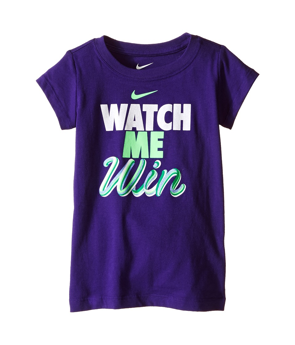 Nike Kids - A894 Watch Me Tee (Toddler) (Dark Hyper Grape) Girl's T Shirt