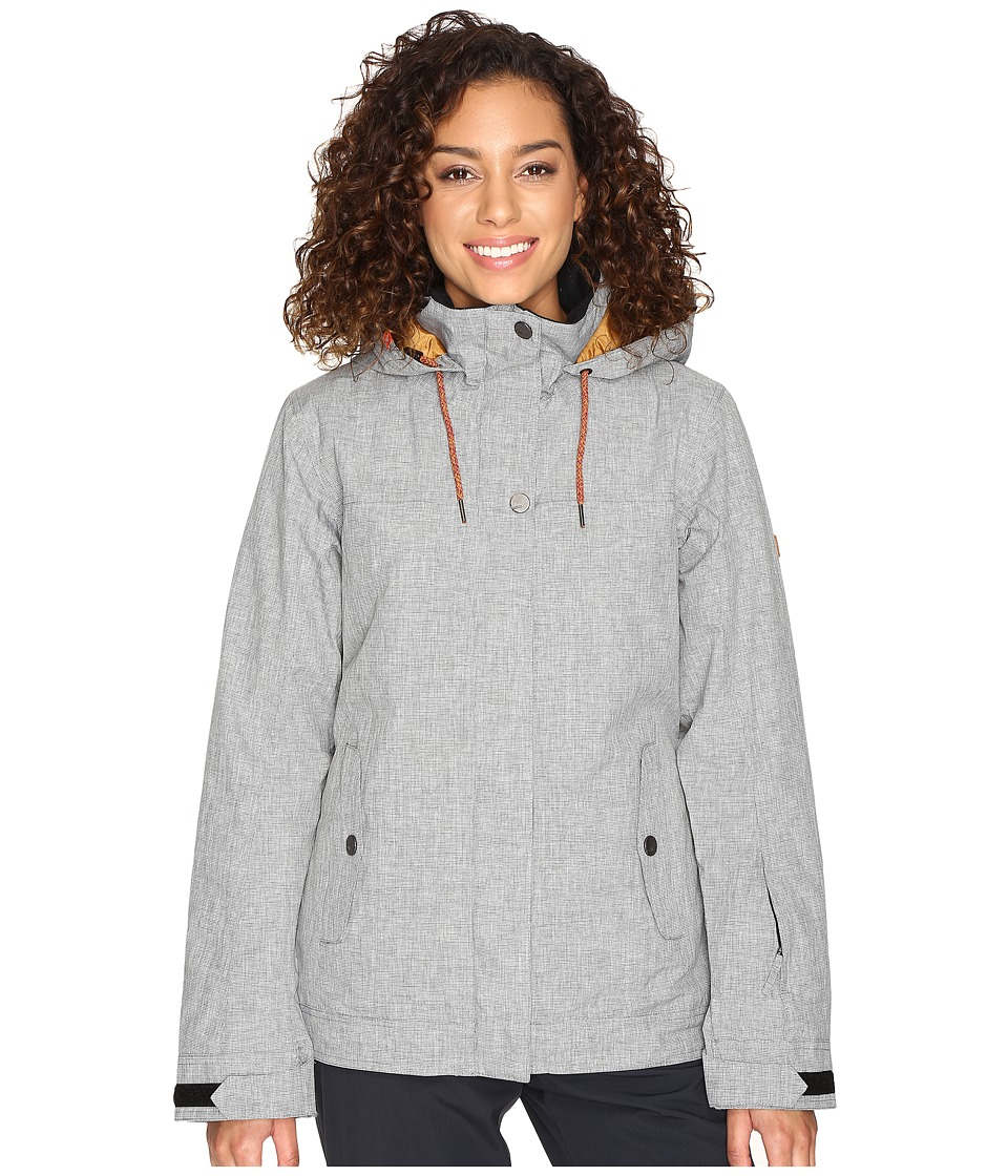 Roxy - Billie Jacket (Mid Heather Grey) Women's Coat