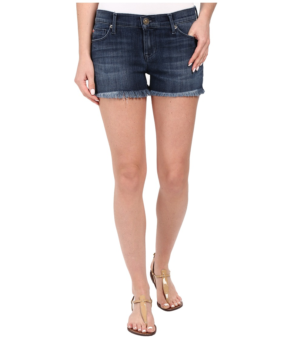 Hudson - Amber Raw Edge Hem Shorts in Blue Crest (Blue Crest) Women's Shorts