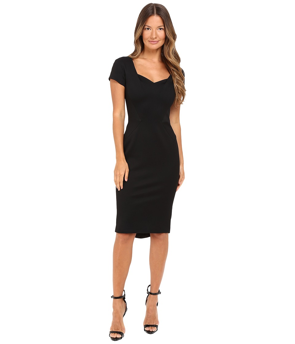 Zac Posen - Bondage Jersey Cap Sleeve Dress (Black) Women's Dress
