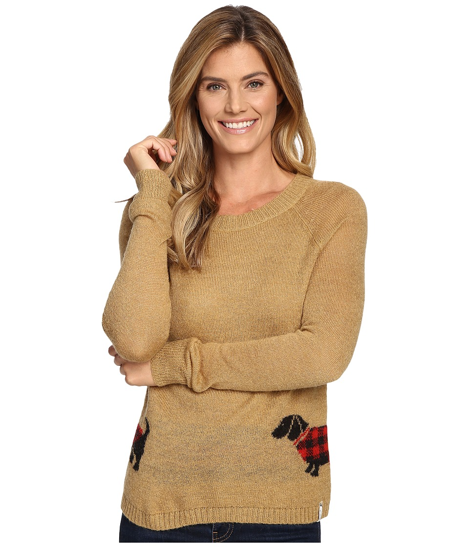 Woolrich - Motif Mohair Crew Sweater (Camel 1) Women's Sweater