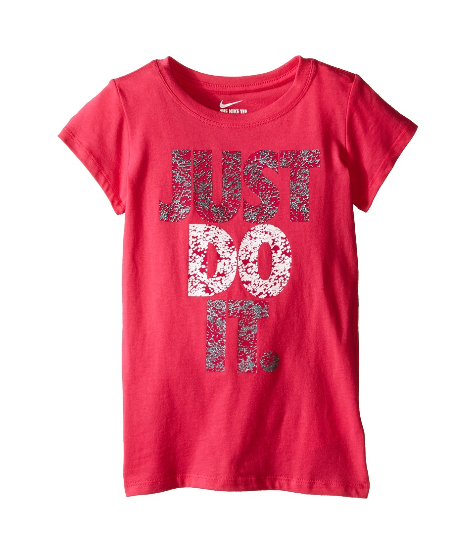 Nike Kids - A879 Just Do It Short Sleeve Tee (Little Kids) (Dark Hyper Pink) Girl's T Shirt