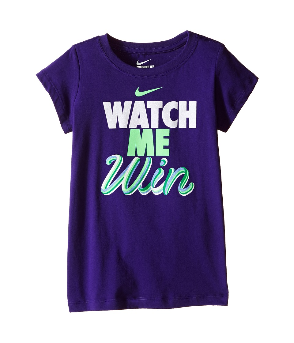 Nike Kids - A894 Watch Me Tee (Little Kids) (Dark Hyper Grape) Girl's T Shirt