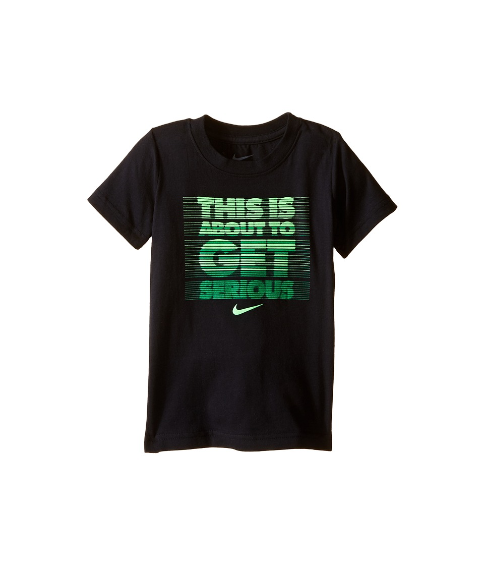 Nike Kids - Get Serious Short Sleeve Tee (Toddler) (Black) Boy's T Shirt