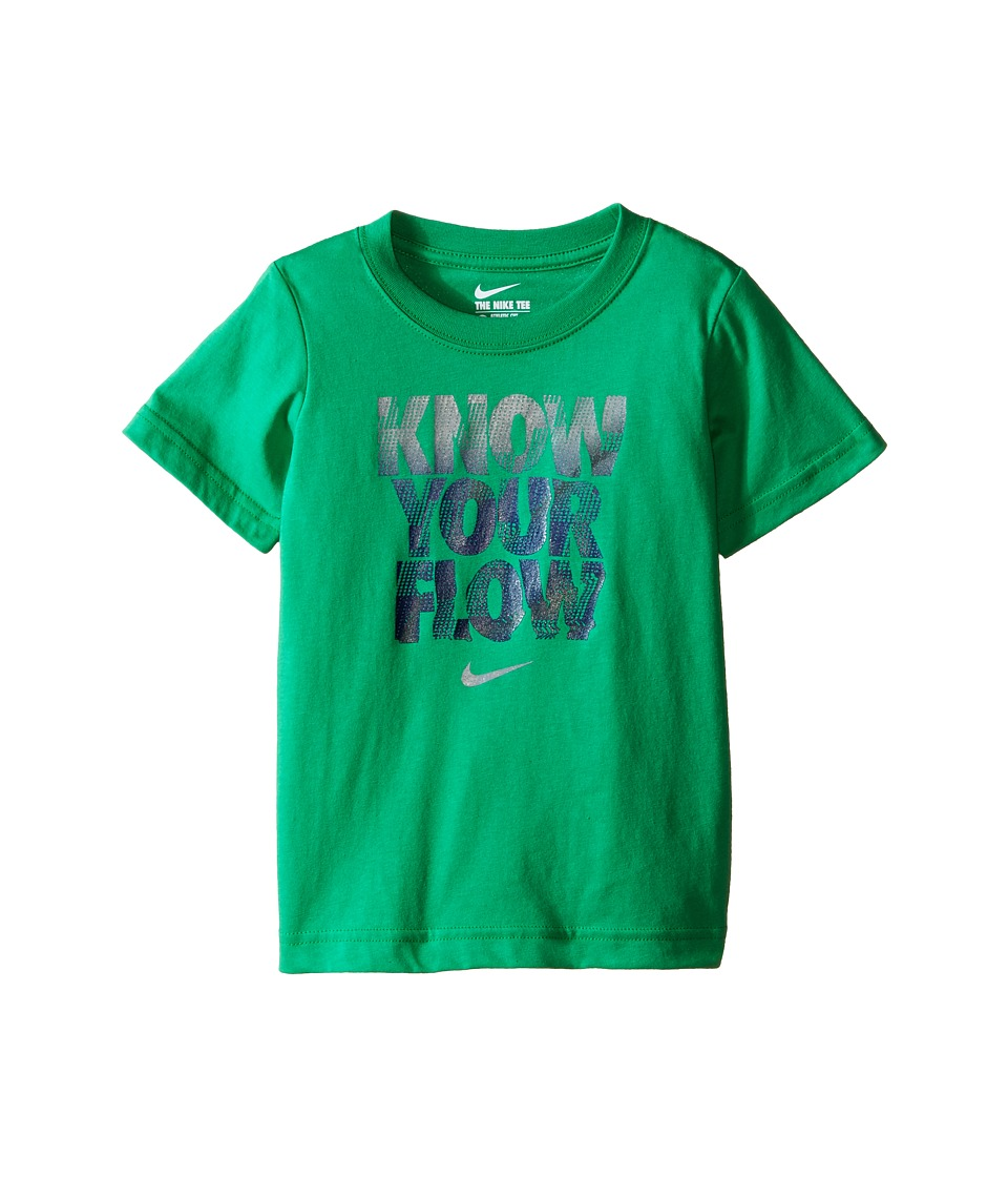 Nike Kids - Know Your Flow Short Sleeve Tee (Toddler) (Spring Leaf) Boy's T Shirt