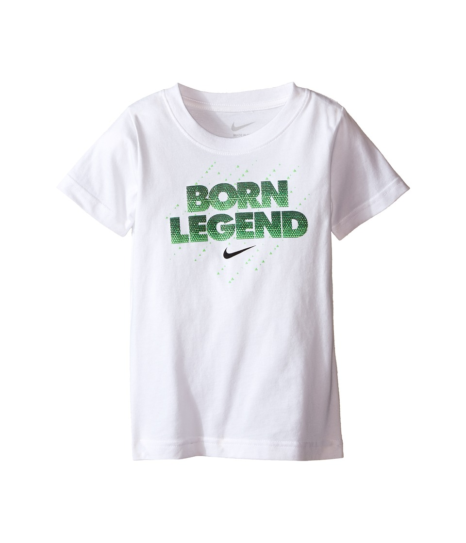 Nike Kids - Born Legend Short Sleeve Tee (Toddler) (White) Boy's T Shirt