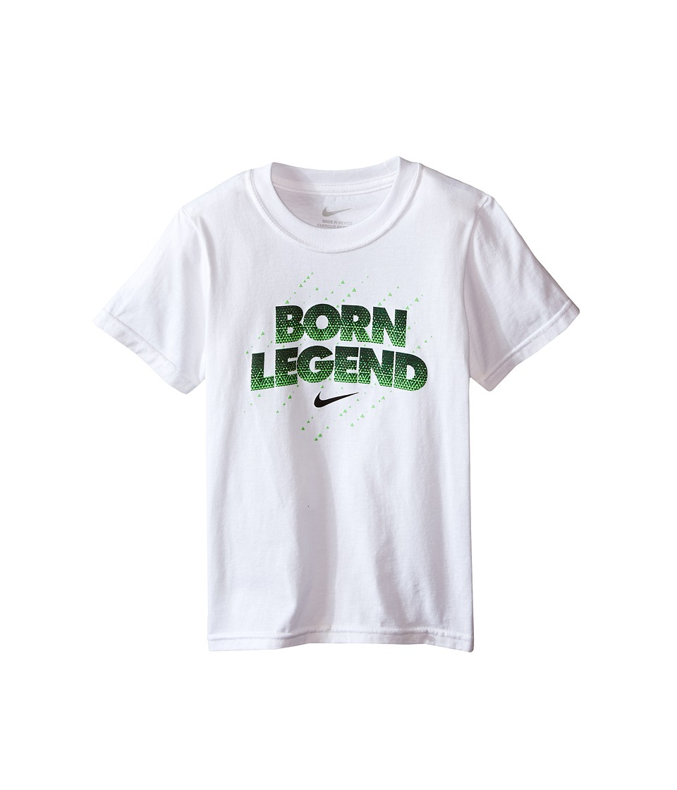Nike Kids - Born Legend Short Sleeve Tee (Little Kids) (White) Boy's T Shirt