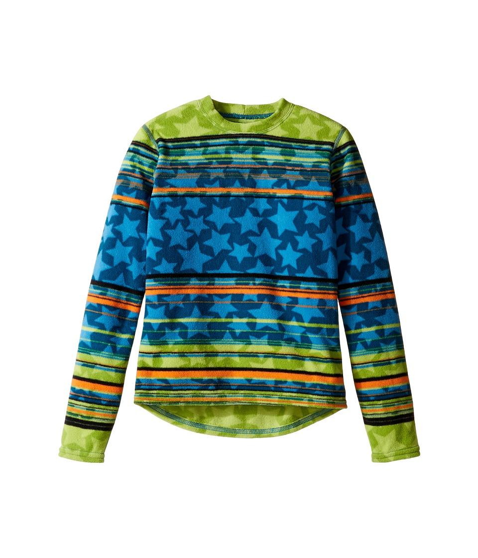 Hot Chillys Kids - Micro Fleece Print Crew (Little Kids/Big Kids) (Allstar Abyss) Kid's Fleece