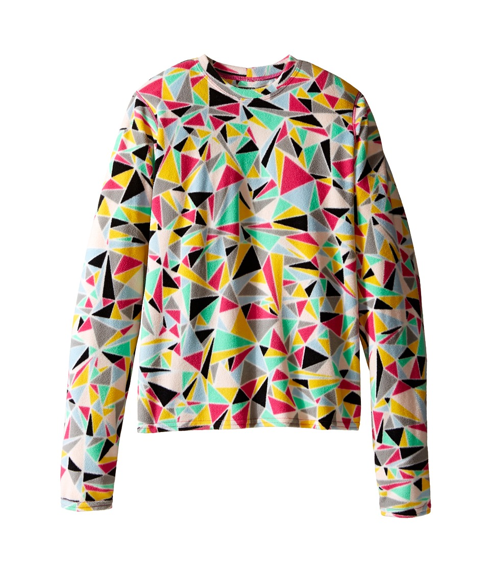 Hot Chillys Kids - Micro Fleece Print Crew (Little Kids/Big Kids) (Shatter Prism) Kid's Fleece