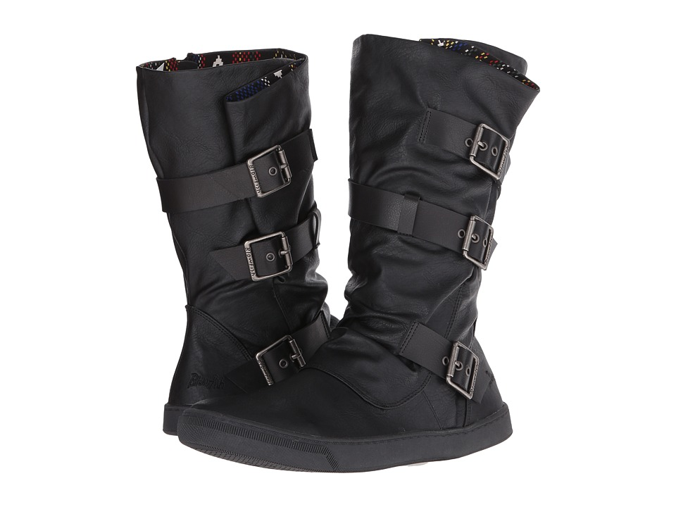 Blowfish - Pie (Black Old Ranger/Black Pisa PU) Women's Pull-on Boots