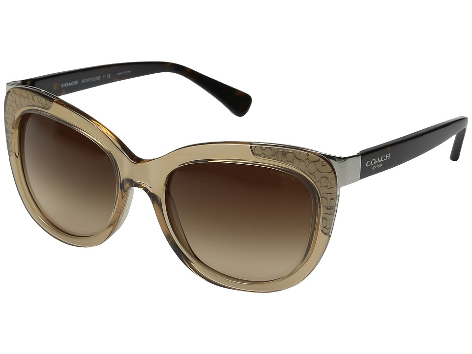 COACH - 0HC8171 (Crystal Light Brown/Dark Tortoise) Fashion Sunglasses