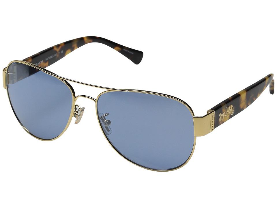 COACH - 0HC7059 (Gold/Yellow Tortoise) Fashion Sunglasses