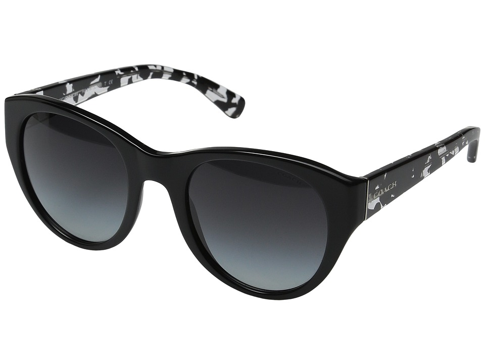 COACH - 0HC8167 (Black/Black Crystal Mosaic) Fashion Sunglasses