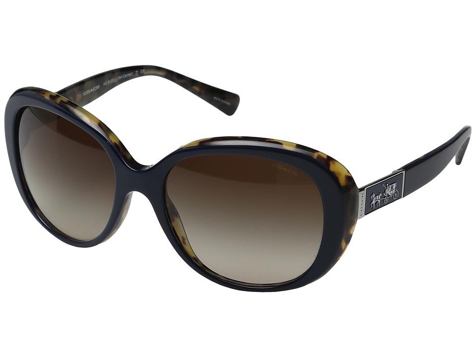 COACH - Carter (Navy Milky Tortoise) Fashion Sunglasses