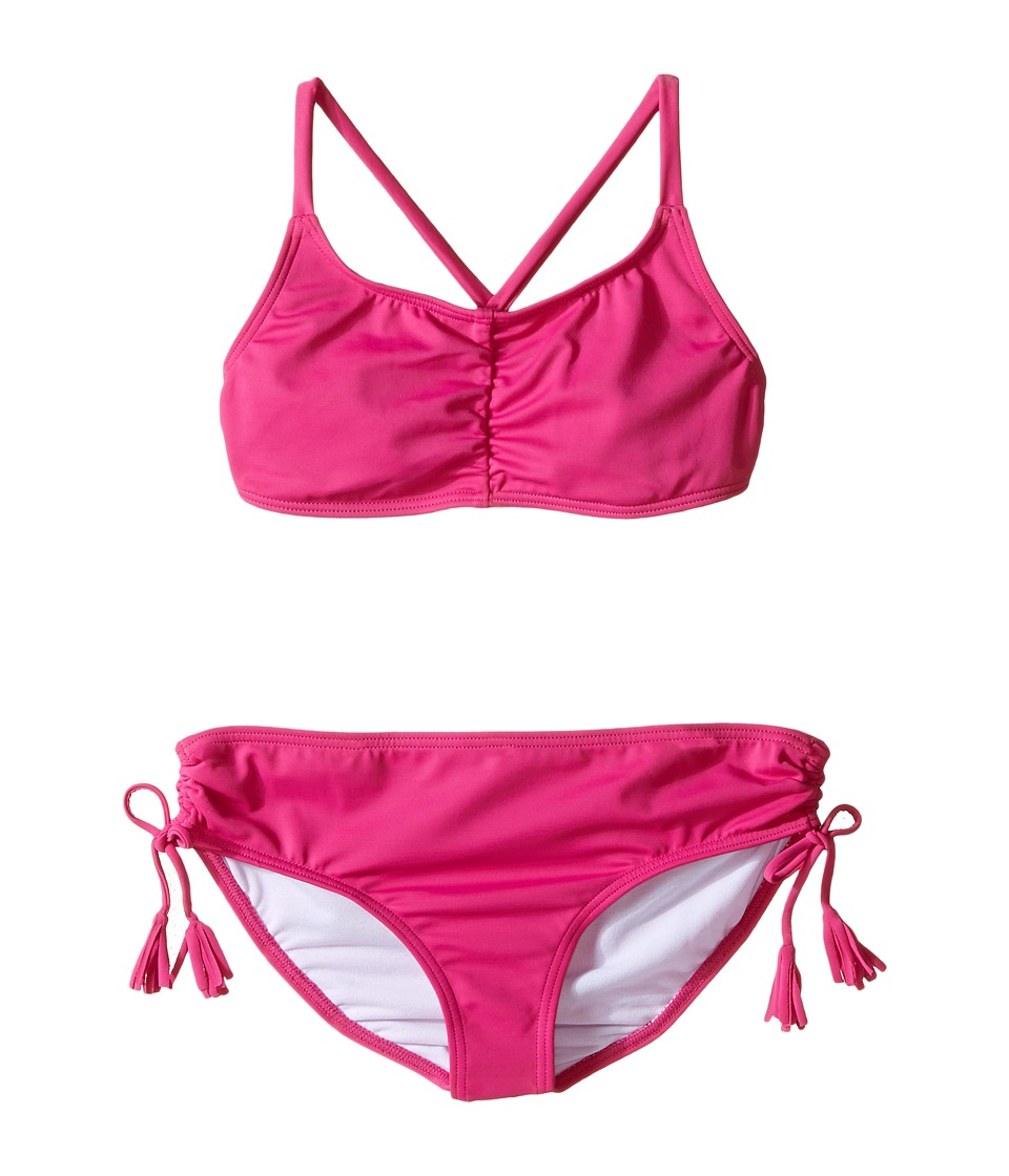 Billabong Kids - Sol Searcher Tali Set (Little Kids/Big Kids) (Berry Pink) Girl's Swimwear Sets