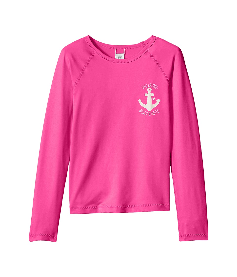 Billabong Kids - Sol Searcher Long Sleeve Rashguard (Little Kids/Big Kids) (Berry Pink) Girl's Swimwear