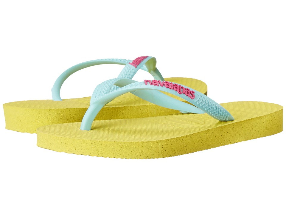 Havaianas Kids - Slim Logo Pop Up Flip Flop (Toddler/Little Kid/Big Kid) (Revival Yellow) Girls Shoes