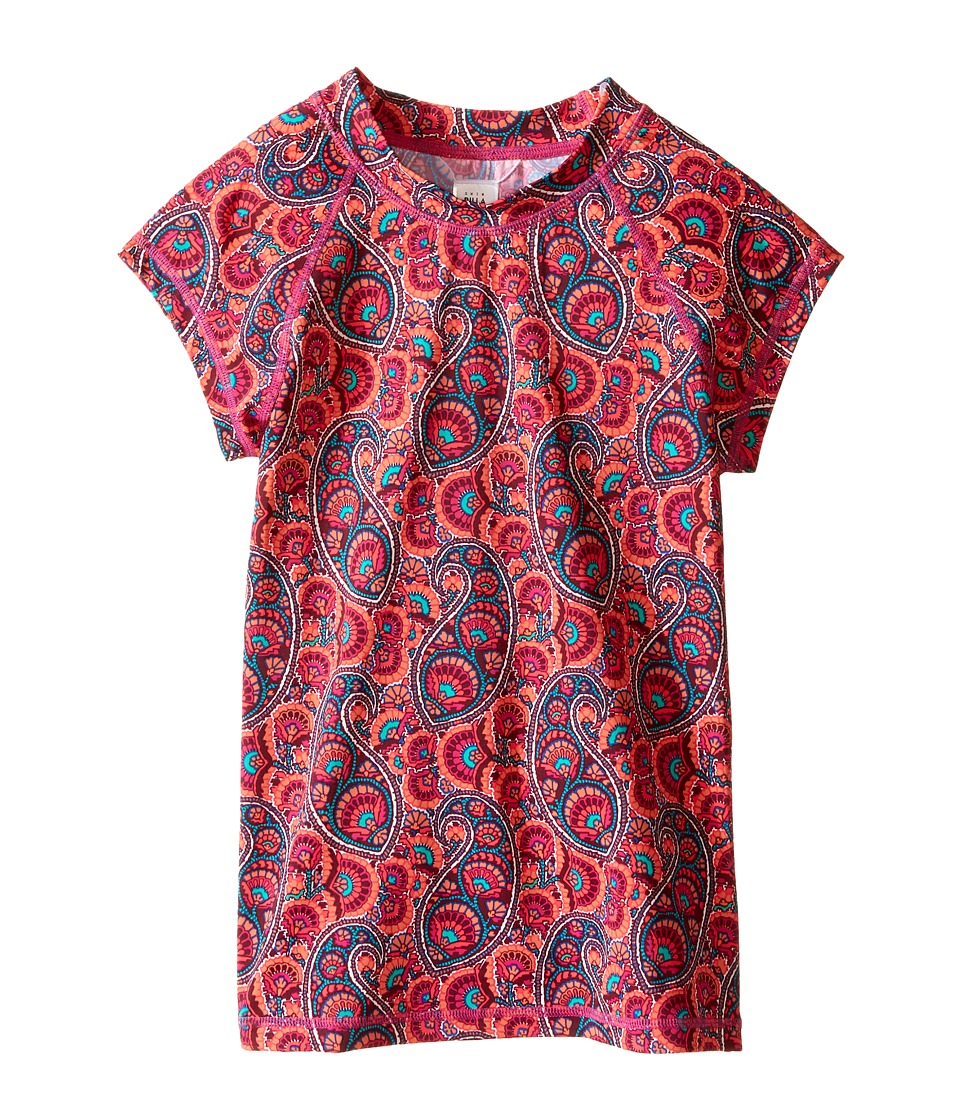 Billabong Kids Paisley Party Short Sleeve Rashguard (Little Kids/Big Kids) (Multi) Girl