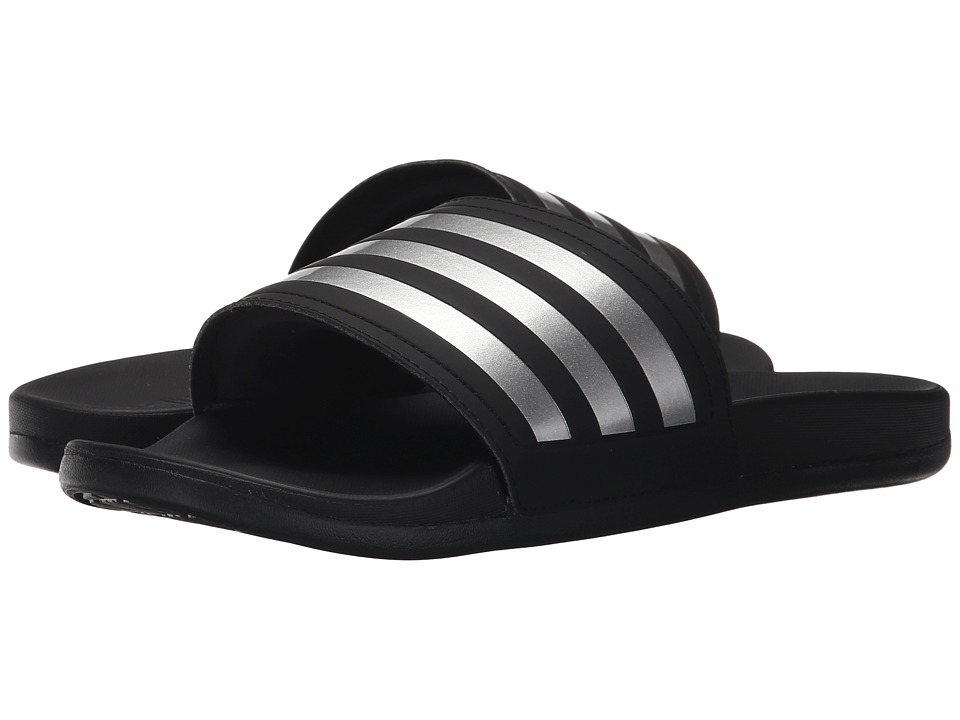 adidas - Adilette SC - Silver (Black/Metallic Silver) Women's Slide Shoes