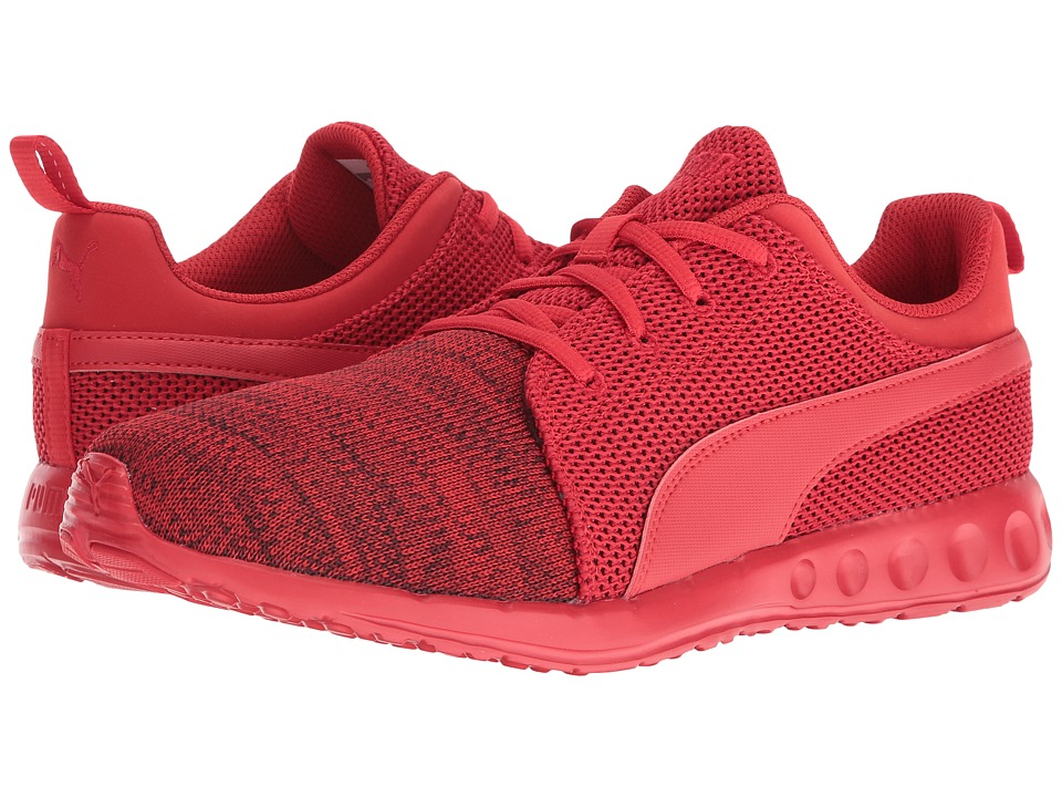 PUMA - Carson Runner Camo Knit (High Risk Red/Black) Men's Shoes