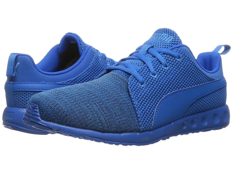PUMA - Carson Runner Camo Knit (Electric Blue Lemonade/Peacoat) Men's Shoes