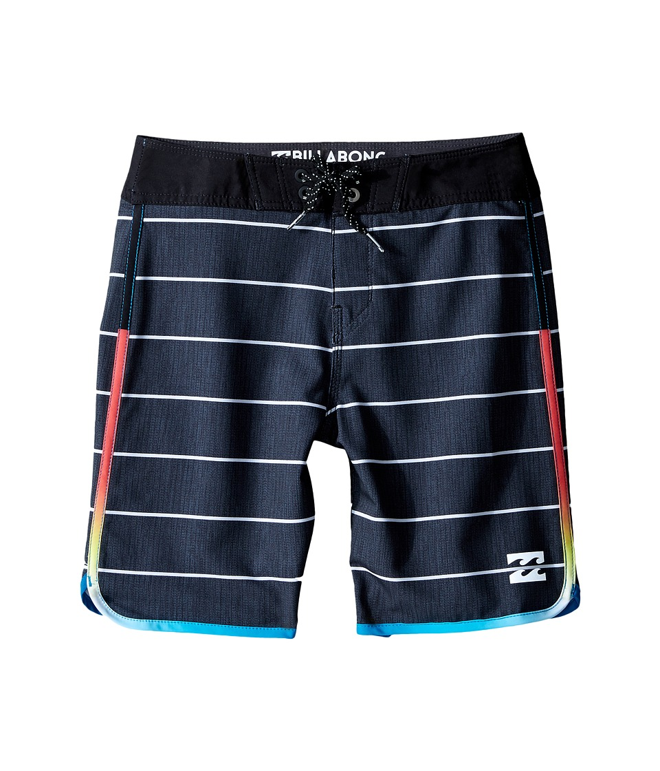 Billabong Kids - Tribong X Scallop Boardshorts (Big Kids) (Black) Boy's Swimwear
