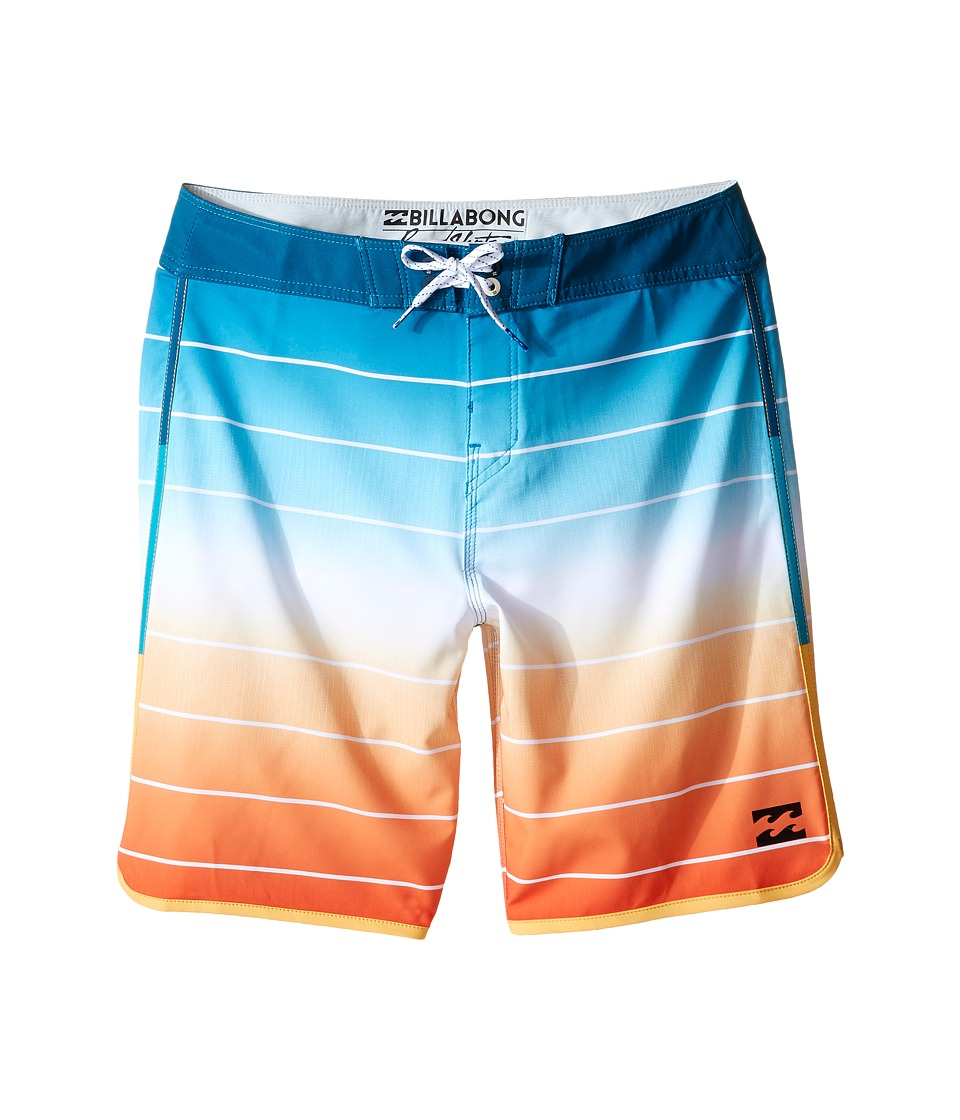 Billabong Kids - Tribong X Scallop Boardshorts (Big Kids) (Tangerine) Boy's Swimwear