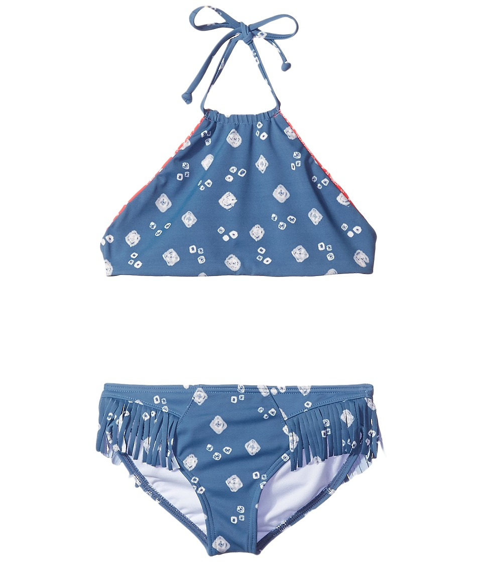 Billabong Kids - Bandana Rama High Neck Crop Set (Little Kids/Big Kids) (Multi) Girl's Swimwear Sets