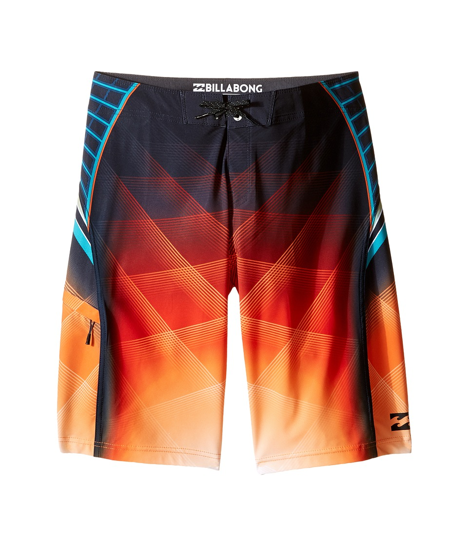 Billabong Kids - Fluid X Boardshorts (Big Kids) (Tangerine) Boy's Swimwear