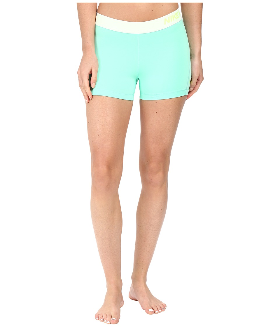 Nike Pro 3 Cool Compression Training Short (Green Glow/Volt) Women