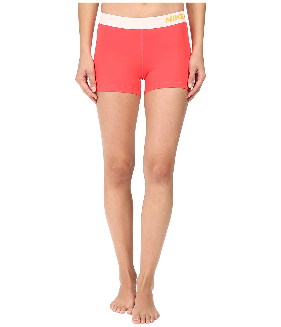 Nike Pro 3 Cool Compression Training Short (Ember Glow/Bright Citrus) Women