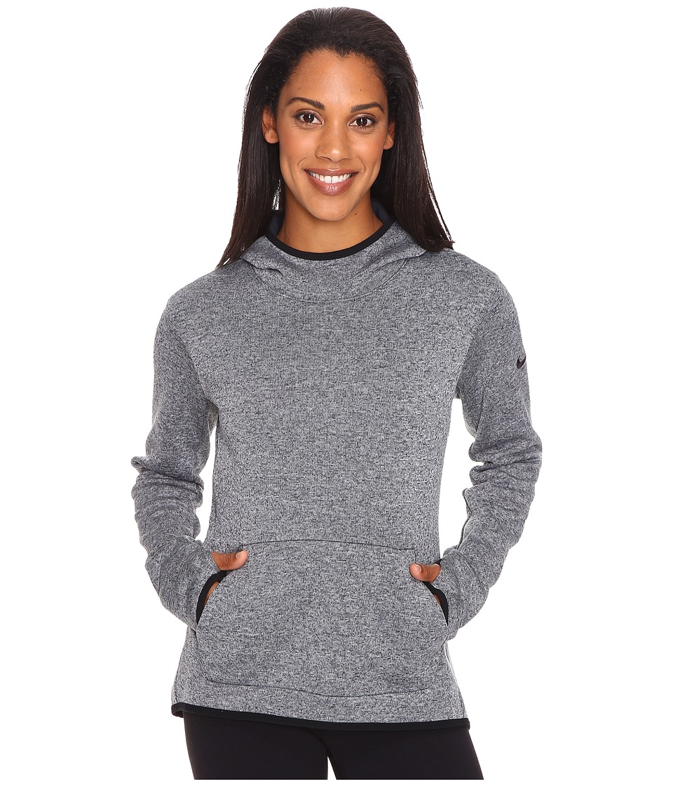 Nike - Therma Pullover Hoodie (Anthracite/Heather/Black/Black) Women's Sweatshirt