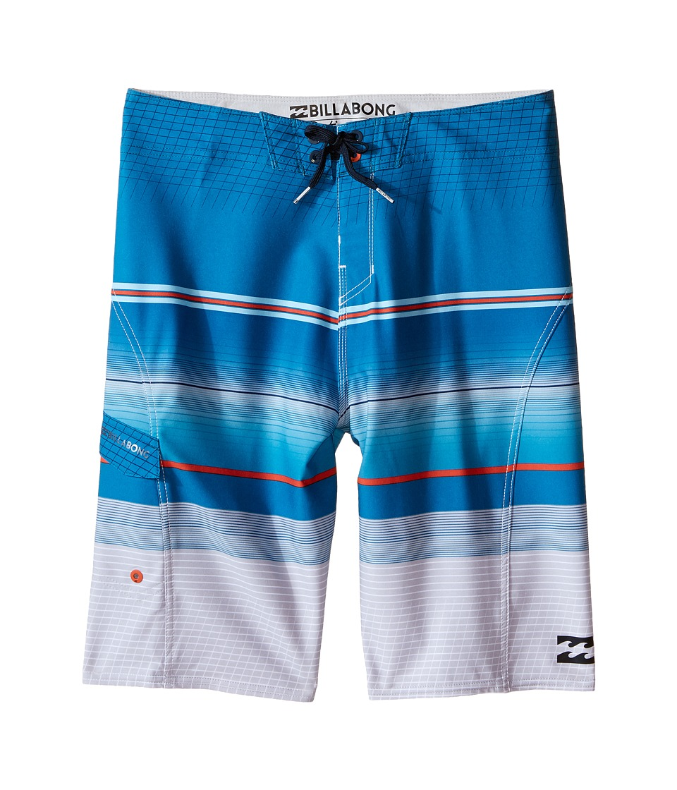 Billabong Kids - All Day X Stripe Boardshorts (Big Kids) (Ocean) Boy's Swimwear