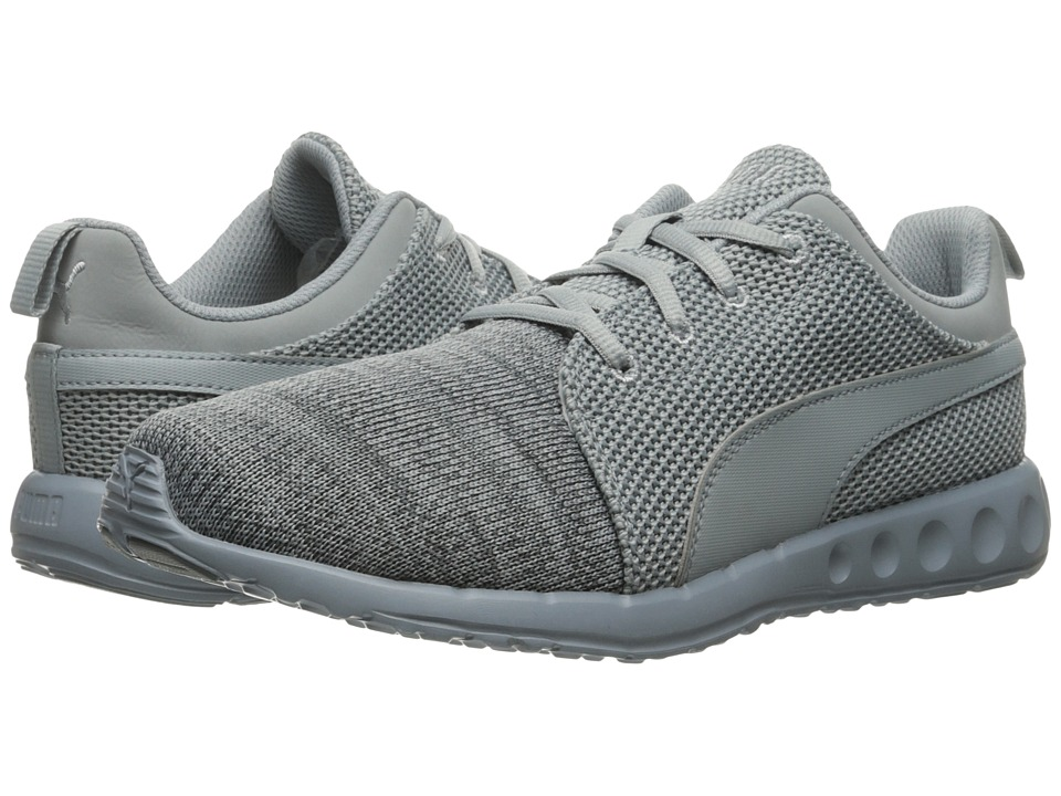 PUMA - Carson Runner Camo Knit (Quarry/Asphalt) Men's Shoes