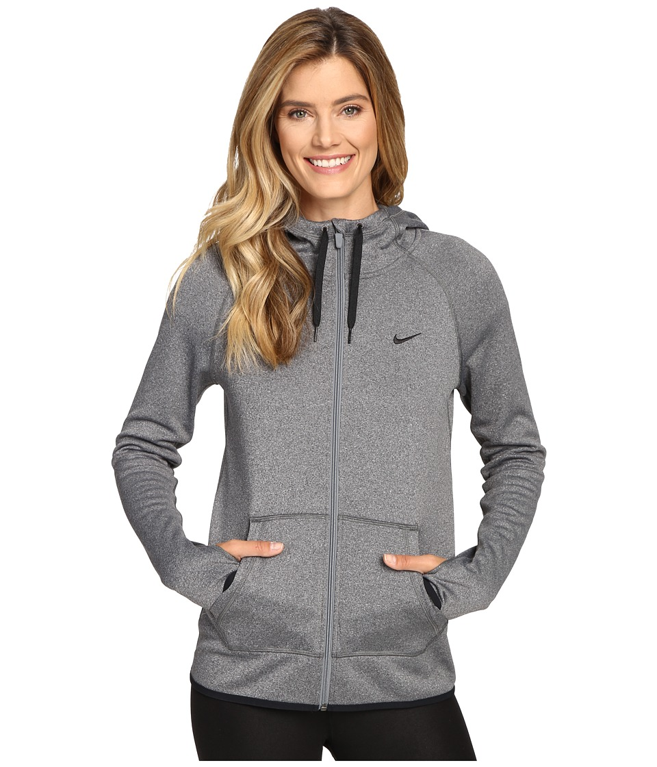 Nike - All Time Full Zip Hoodie (Black/Heather/Black/Black) Women's Sweatshirt