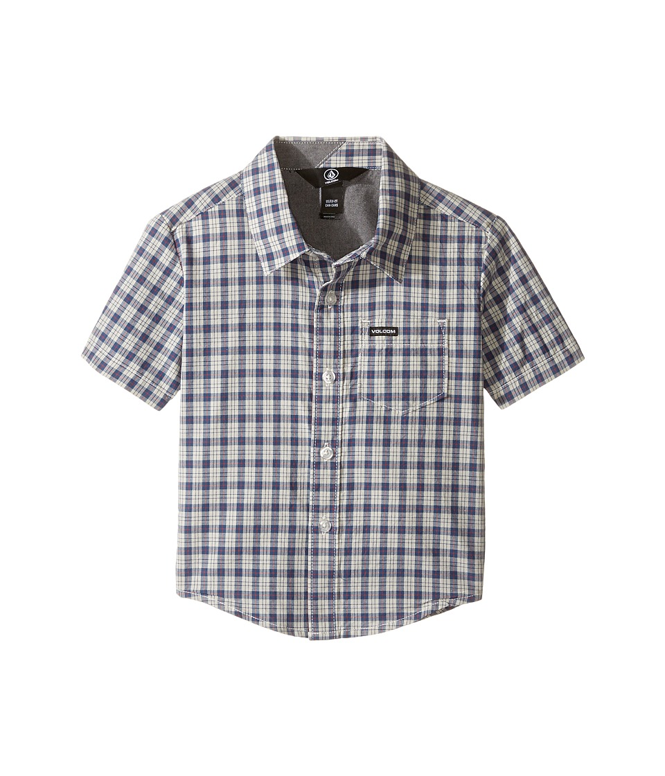 Volcom Kids - Arthur Short Sleeve Top (Toddler/Little Kids) (Mist) Boy's Short Sleeve Button Up