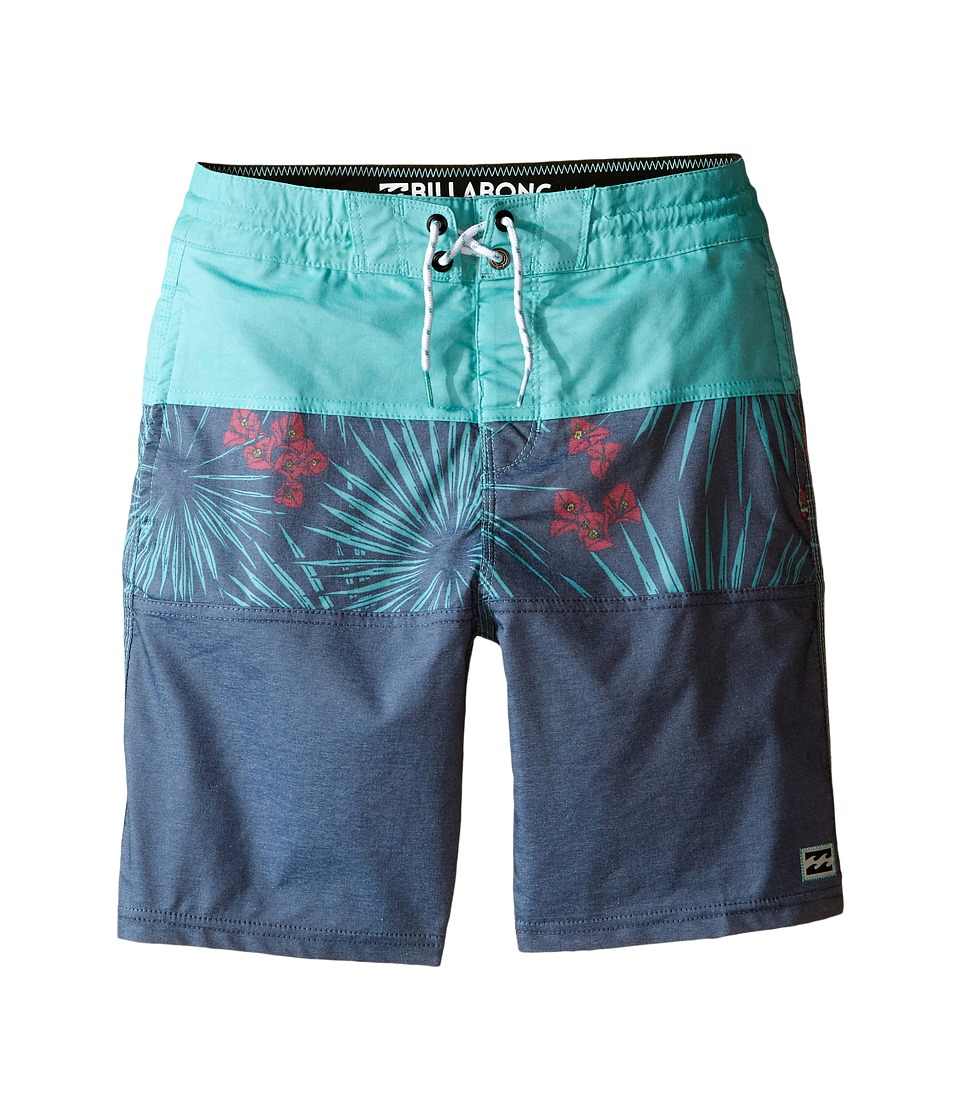 Billabong Kids - Tribong Bungalow Lo Tides Boardshorts (Big Kids) (Navy) Boy's Swimwear