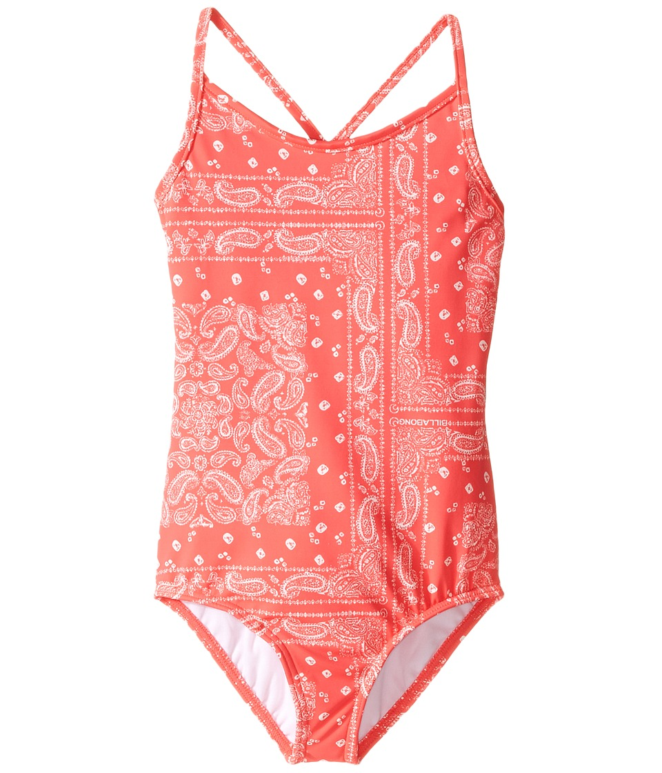 Billabong Kids - Bandana Rama One-Piece (Little Kids/Big Kids) (Red Hot) Girl's Swimsuits One Piece