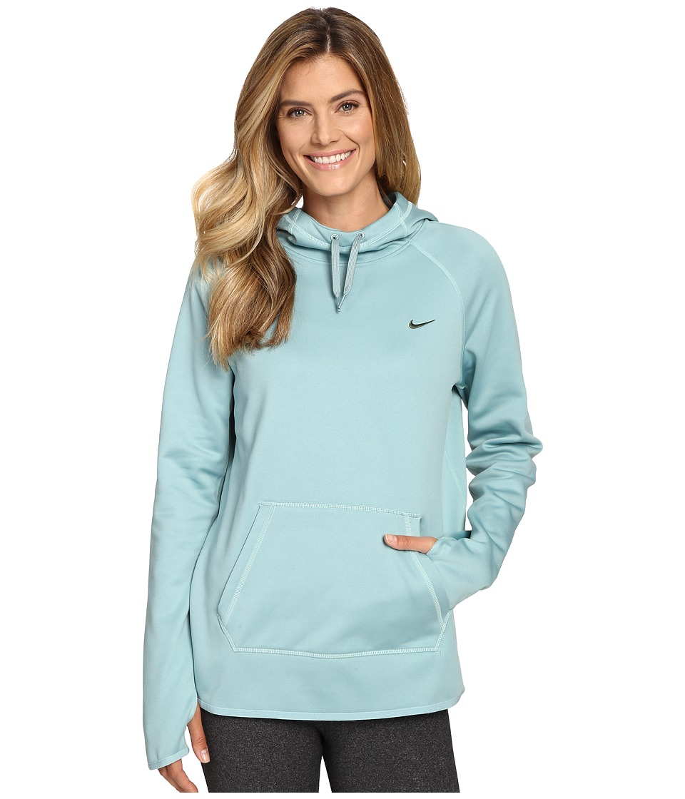 Nike - All Time Pullover Hoodie (Cannon/Green Glow/Seaweed) Women's Long Sleeve Pullover