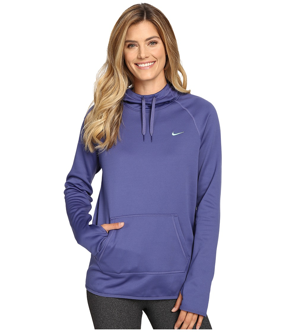 Nike - All Time Pullover Hoodie (Dark Purple Dust/Green Glow/Green Glow) Women's Long Sleeve Pullover