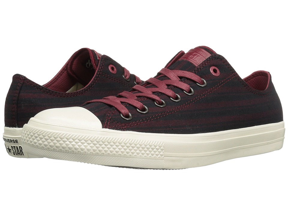 Converse by John Varvatos - Chuck Taylor All Star II Ox Textile (Oxblood) Shoes