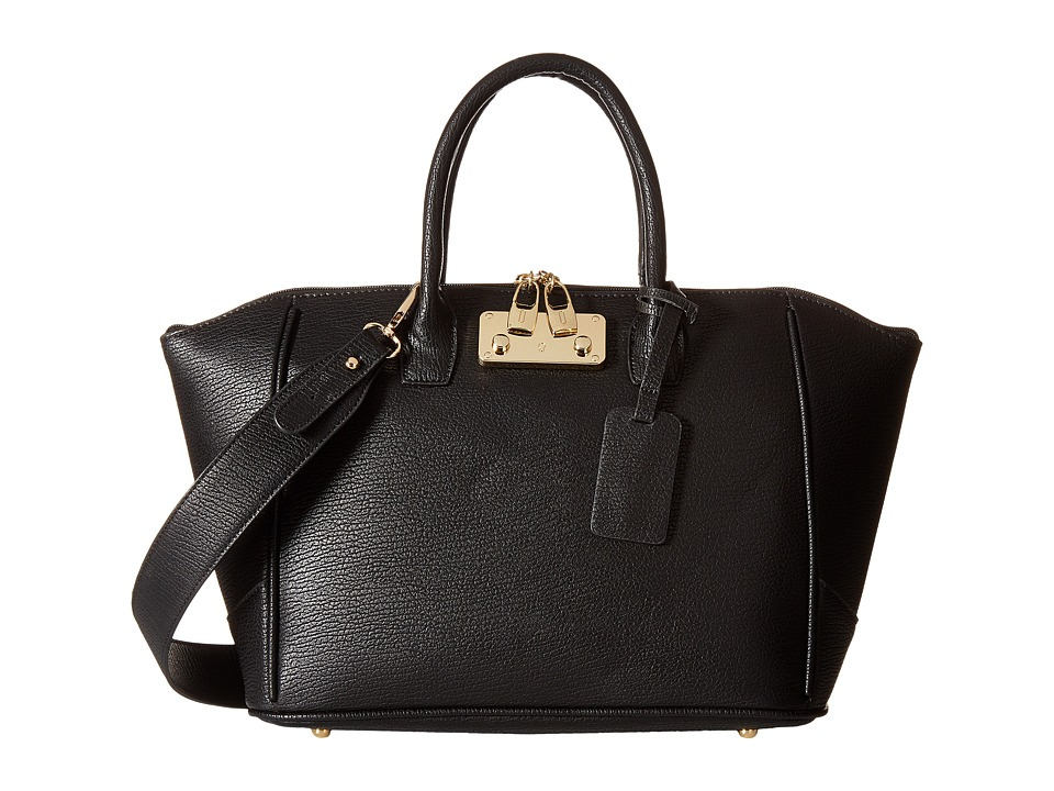Gabriella Rocha - Salma Satchel with Lock (Black) Satchel Handbags
