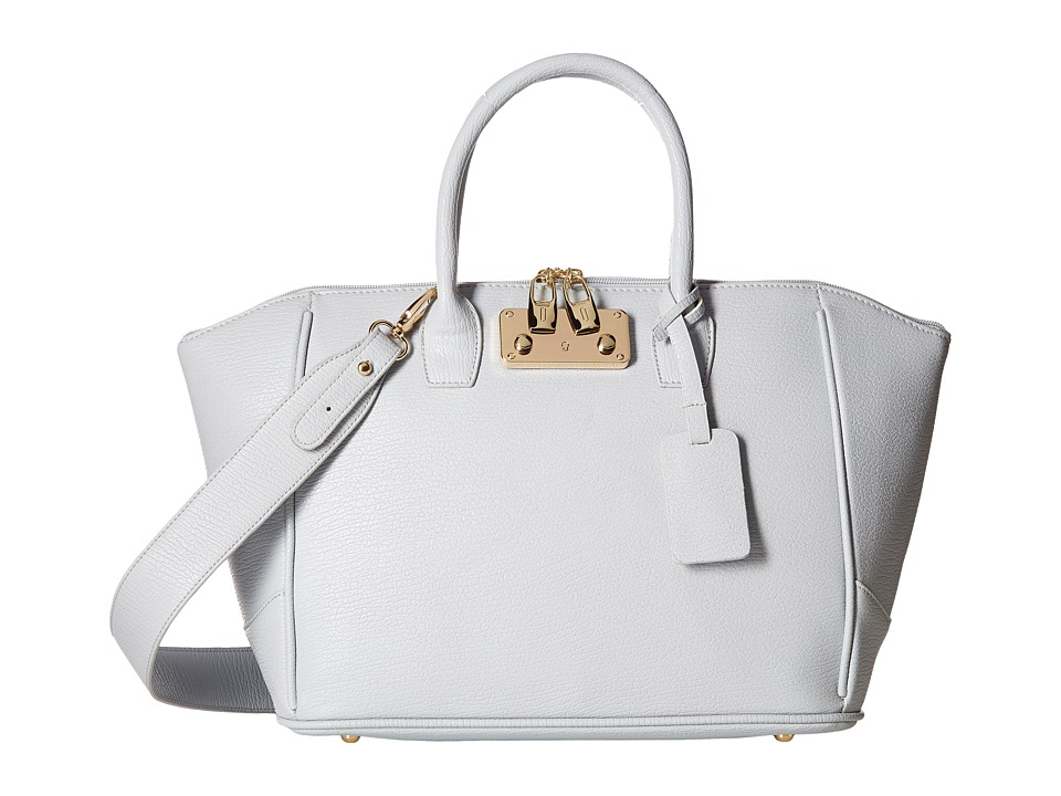 Gabriella Rocha - Salma Satchel with Lock (Grey) Satchel Handbags