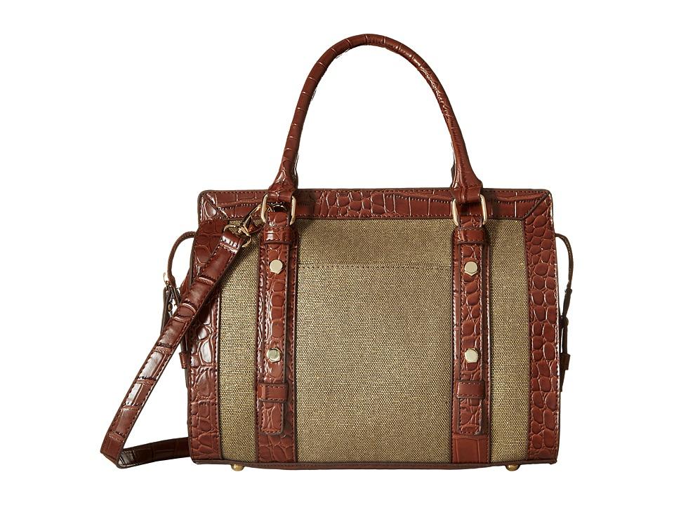 Gabriella Rocha - Tessa Round Satchel (Brown/Tan) Satchel Handbags