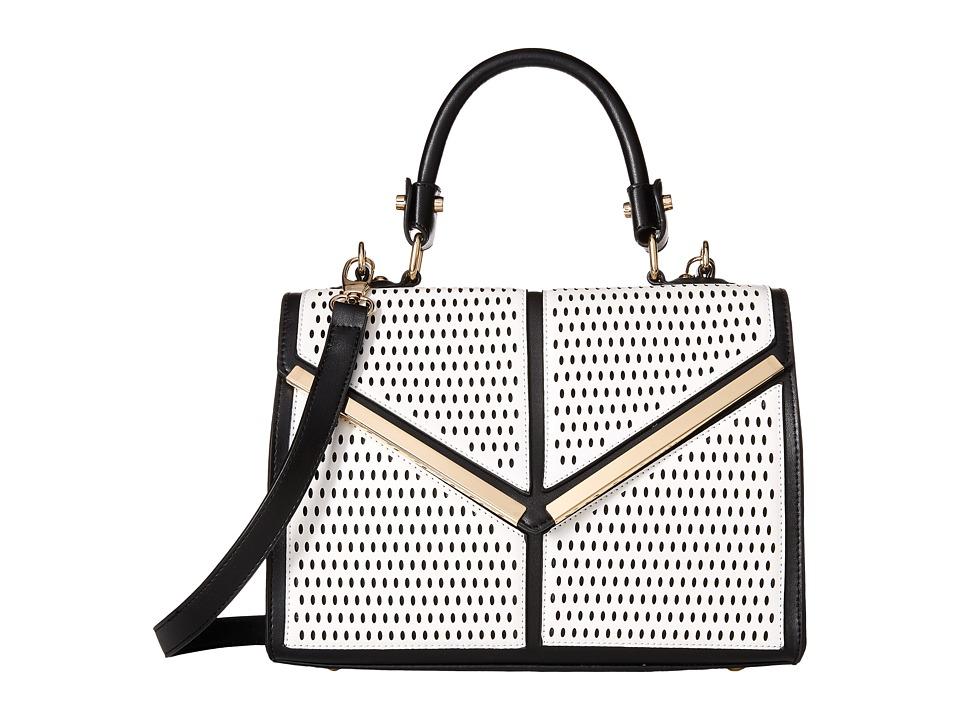 Gabriella Rocha - Teagan Perforated Satchel (Black/White) Satchel Handbags